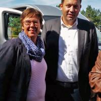 Nella Döbbelin und SPD Generalsekretär Lars Klingbeil